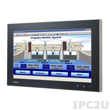"SPC-2140WP-T3AE Безвентиляторная рабочая станция, IP65, WXGA 21.5"" TFT LCD LED, емкостный сенсорный экран, AMD T56N 1.65ГГц, 4Гб DDR3, отсек 1x2.5"" SATA HDD, 5xM12 (1xUSB, 1xRS-232, 2xLAN, DC input), питание 24В DC"