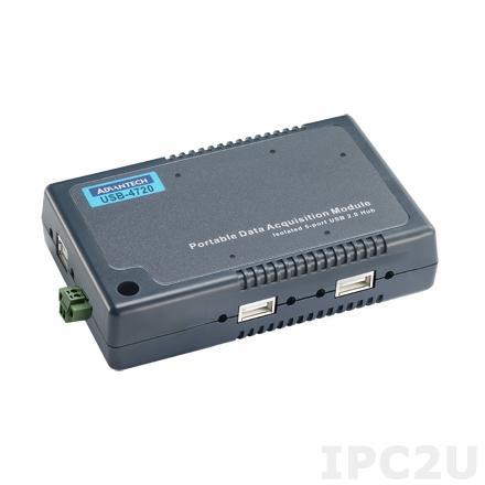 USB-4620-AE USB хаб (концентратор) 5 портов USB 2.0, с изоляцией, пластиковый корпус, с кабелем USB, без блока питания