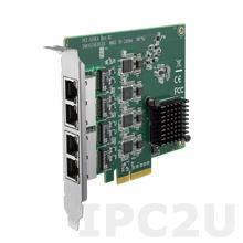 PCE-GIGE4-00A1 Сетевая карта, 4 порта 10/100/1000, PCI Express x4