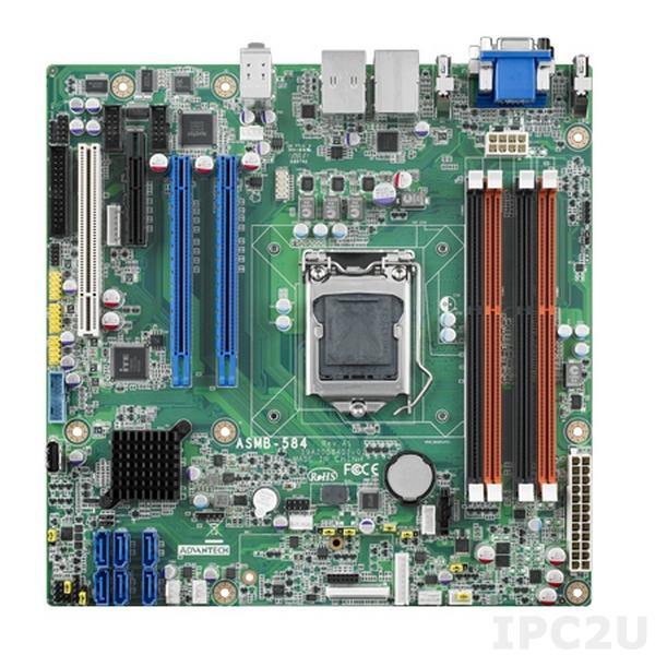 ASMB-584G2-00A2E Серверная плата MicroATX для Intel Xeon-E3, LGA1150, Intel C226, DDR3, 2xGB LAN, 4xUSB 3.0, 2xUSB 2.0, 2xPCIe x16 1xPCIe x4, 1xPCI, 1xLPC, 2xSMBus