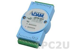 ADAM-4055-BE Модуль ввода - вывода, 8 каналов дискретного ввода, 8-каналов дискретного вывода с изоляцией и индикацией, Modbus RTU/ASCII