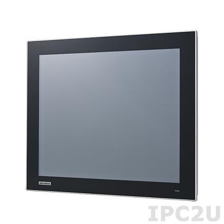 """TPC-1751T-E3AE Безвентиляторная панельная рабочая станция с 17"""" TFT LED LCD, резистивный сенсорный экран, Intel Atom E3827 1.75ГГц, 4Гб DDR3L, 1xCFast, 2xCOM, 1xUSB 2.0, 1xUSB 3.0, 2xLAN, 1xMini-PCIe, питание 24В DC"""