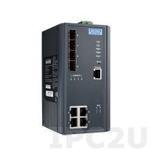 EKI-7708G-4FP-AE Управляемый коммутатор Ethernet, 4 порта 10/100/1000BaseT(X) PoE+, 4 порта Gigabit SFP, -10...+60C