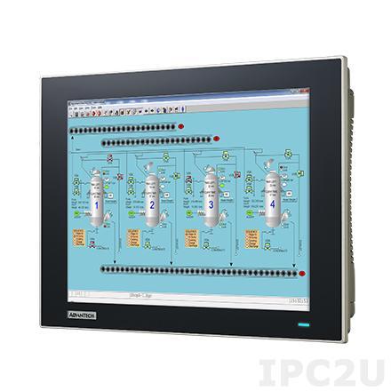 "TPC-1282T-533AE Безвентиляторная панельная рабочая станция 12.1"" TFT LCD LED, резистивный сенсорный экран, Intel Core i3-5010U 2.10ГГц, 4Гб DDR3L, HDMI, 2xLAN, 2xCOM, 2xUSB 3.0, 1xCFast, 1x2.5"" SATA SSD, 1x mSATA, 1xPCIe/Mini PCIe, Audio, iDoor, питание 24В DC"