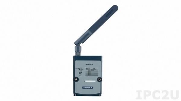 WISE-4220-S231A Беспроводной модуль ввода-вывода данных с датчиков температуры и влажности, 2.4ГГц IEEE 802.11b/g/n, 110 м в пределах прямой видимости