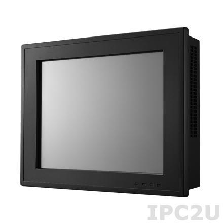 "PPC-6120-RAE Панельная рабочая станция с 12.1"" TFT XGA LED, резистивный сенсорный экран, поддержка процессора Intel 4th Gen Core i/Celeron, до 16Гб DDR3L, VGA/DP, 2xGB LAN, 5xCOM, 4xUSB 3.0, 2xUSB 2.0, 1 x MiniPCIe, mSATA, отсек 2.5"" SATA HDD, Audio"