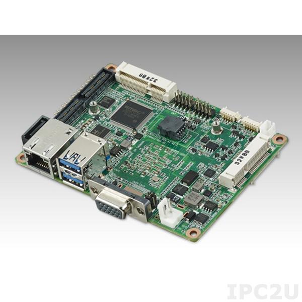 MIO-2270QH-S5A1E Процессорная плата Pico-ITX с AMD G-Series SoC GX-210JA 1ГГц, DDR3, 18бит LVDS,VGA или HDMI, GB LAN, 2xCOM, 2xUSB 3.0, 2xUSB 2.0, слот Mini PCIe половинного размера, SMBus, mSATA, MIOe, HD Audio