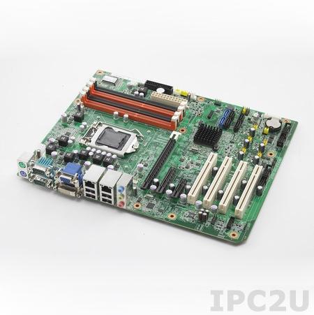 AIMB-781QG2-00A1E Процессорная плата ATX Intel Core i7/i5/i3/Pentium LGA1155, Intel Q67 с VGA/DVI, до 32Гб DDR3 DIMM, Dual Gigabit Ethernet, 4xSATA II, 2xSATA III (RAID 0,1,5,10), 4xUSB, 4xPCI, 1xPCI Express x16, 1xPCI Express x4, 1xPCI Express x1, Audio
