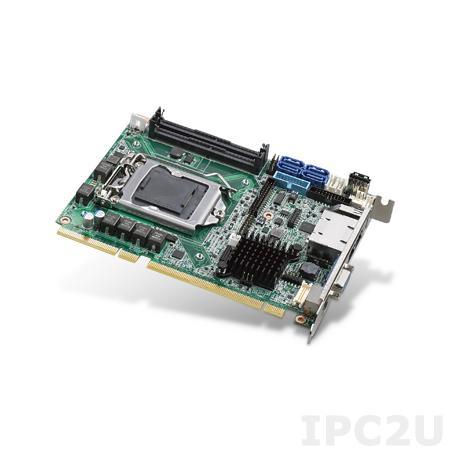 PCE-3029G2-00A1E Процессорная плата Half-Size PICMG 1.3, сокет LGA1151 для Intel 6th gen Core i7/i5/i3 с DDR4 2133/1866МГц SO-DIMM, VGA, DVI-D, 2xGbE LAN, 2xCOM, 2xUSB 3.0, 7xUSB 2.0, 4xSATA III, LPT, GPIO, 1xPCIe x16, 1xPCIe x4