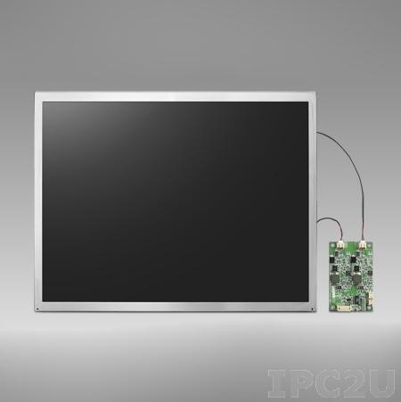 """IDK-2108N-K2SVA2E 8,4"""" LCD 800 x 600 Open Frame дисплей LED, 1200нит, LVDS"""