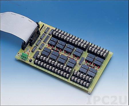 PCLD-785-AE Плата релейной коммутации 16 реле, 120 VAC @ 0.5 A, 30 VDC @ 1 A