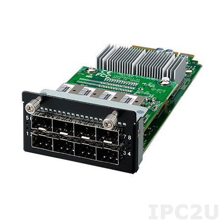 NMC-0804-08FSA1 Коммуникационный модуль 8 SFP портов GbE RJ-45, 4xLAN bypass, 2 PCIe x4, Thumbscrew type