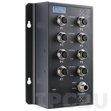 EKI-9508E-PH-AE Неуправляемый коммутатор Ethernet, 8 портов M12, питание 72/96/110В DC, EN50155