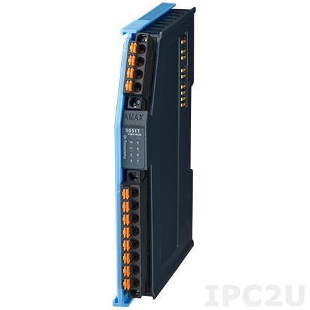 AMAX-5051T-A Коммутационный модуль для контроллера AMAX-5580-54000A 8 каналов DI (2 канала с функцией timestamp, 6 каналов без функции timestamp), питание 24В DC
