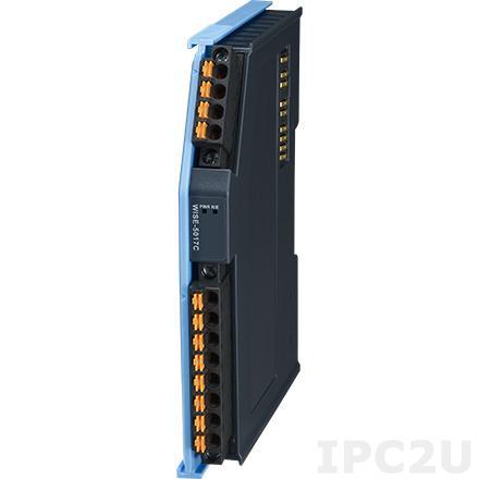 AMAX-5017C-A Модуль ввода, 6 каналов аналогового ввода (ток), +/-20мА, 0...20мА, 4...20мА, питание 24В DC