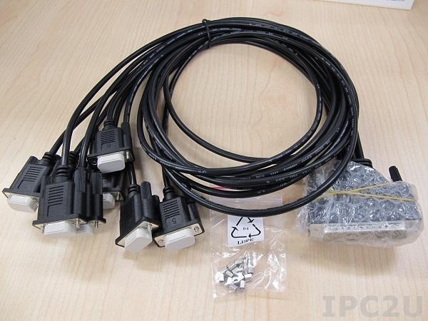OPT8J-AE Разветвительный кабель DB78 в 8xDB9 male, длина 100см, 15В, ПВХ