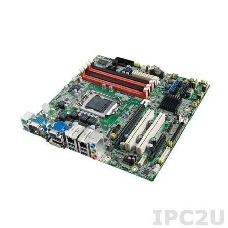 AIMB-582QG2-00A1E Процессорная плата Micro-ATX, Q77, Intel Core i7/i5/i3, LGA1155, до 32ГБ DDR3 DIMM, VGA, DVI, LVDS, 2xGbE, 4xSATA2/2xSATA3, RAID 0,1,5,10, 6xCOM, 8xUSB2.0, 4xUSB3.0, Audio, 1xPCI Express x16, 1xPCI Express x4, 2xPCI