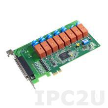 PCIE-1761H-AE Плата ввода-вывода PCI Express, 8DI с оптической изоляцией, 8 реле