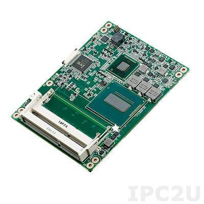 SOM-5894C7-U4A1E Процессорная плата COM Express, Intel Core i7-4700EQ 2.4ГГц, 2x204P SODIMM DDR3L 1333/1600 МГц до 16ГБ, 8xPCIe, LPC, SMBus, 1xLAN, 4xSATA3, 12xUSB, 2xCOM, 1xLVDS, 3xHDMI/DVI/Displayport, Audio