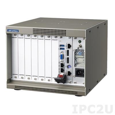 MIC-3111-00-AE Корпус 4U CompactPCI с 3U 7-слотовой объединительной платой 32-бит и источником питания 180Вт ATX