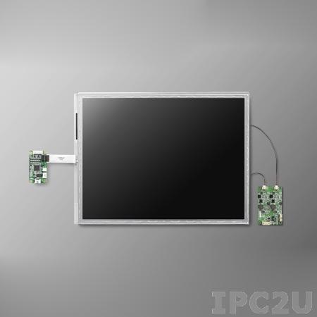 "IDK-2119R-K2SXA2E 19"" LCD 1280 x 1024 Open Frame дисплей LED, 1200нит, резистивный сенсорный экран (USB), 2xLVDS"
