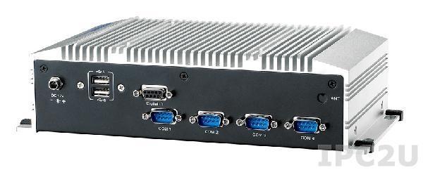"""ARK-2120L-S6A1E Компактный компьютер c Intel Atom N2600 1.6ГГц, до 4ГБ DDR3, VGA, HDMI, 2xGb LAN, 4xCOM, 6xUSB, GPIO, Audio, CF, отсек для 2.5"""" SATA HDD, Mini-PCIe, 12В DC"""
