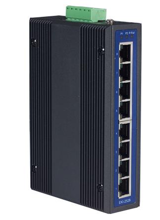 EKI-2528I-AE 8-портовый неуправляемый коммутатор 10/100Mbps Ethernet, -40..+75C