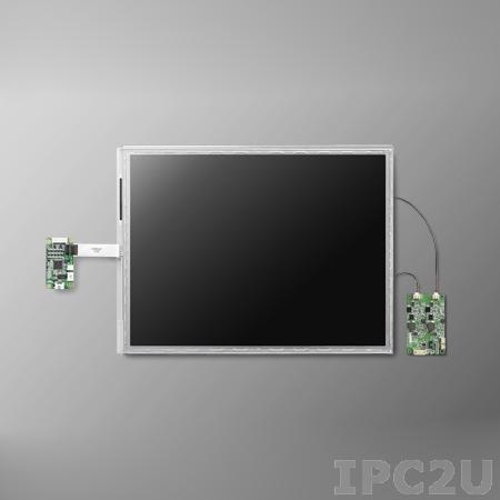"IDK-2110R-K2SVA2E 10,4"" LCD 800 x 600 Open Frame дисплей LED, 1200нит, резистивный сенсорный экран (USB), LVDS"
