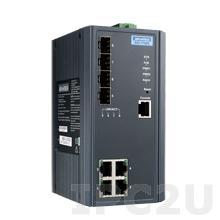 EKI-7708E-4FI-AE Управляемый коммутатор Ethernet, 4 10/100BaseT(X) порта RJ-45, 4 порта Gigabit SFP, металлический корпус, -40...+75C