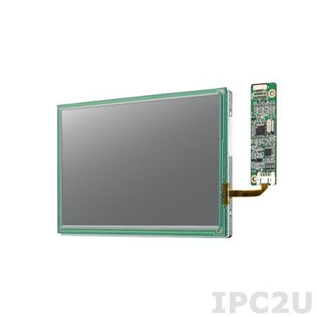 "IDK-1107WR-40WVA1E 7"" LCD 800 x 480 Open Frame дисплей LED, 400нит, резистивный сенсорный экран (USB), LVDS"