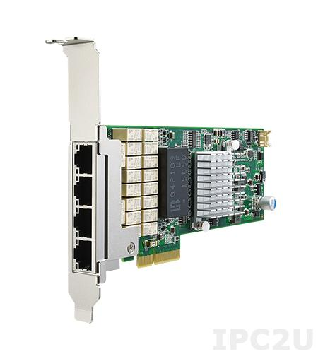 PCIE-2131NP-00A1E Сетевой адаптер Gigabit Ethernet, 4 порта RJ45, контроллер Intel I350-AM4, PCI Express x4 gen. 2, низкопрофильный