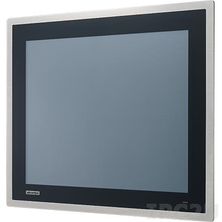 """FPM-817S-R6AE Промышленный 17"""" TFT LCD LED монитор, 1280x1024, яркость 350 нит, резистивный сенсорный экран (USB), VGA, DP, 24 VDC-in, передняя панель из нержавеющей стали"""