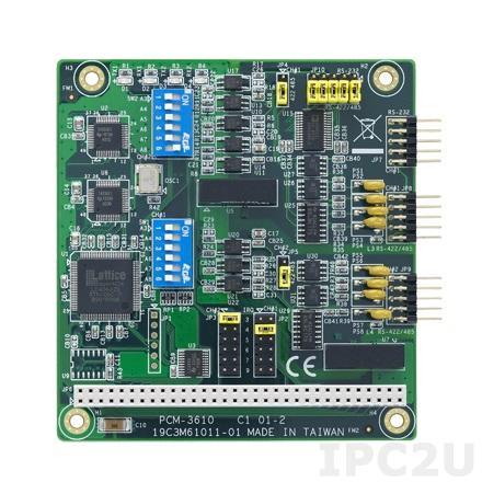 PCM-3610-CE PC/104 адаптер 2xRS-232/422/485 разъем DB9 Male c изоляцией