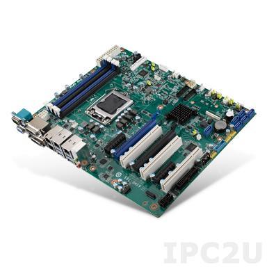 ASMB-785G4-00A1E Серверная плата ATX, поддержка Intel Xeon E3-1200 v5/6th Gen Core i3/i5/i7, DDR4, 2xDVI, VGA, 6xCOM, 3xUSB 2.0, 6xUSB 3.0, 4xGbE LAN, 6xSATA III, Аудио, 2xPCIe x16 (1xPCE x8), 2xPCIe x4, 3xPCI
