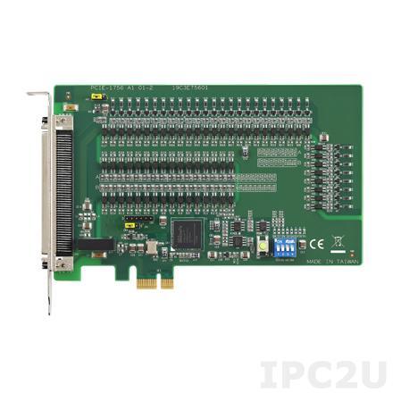 PCIE-1756H-AE Плата ввода-вывода PCI Express, 32DI, 32DO, с цифровым фильтром и поддержкой прерываний