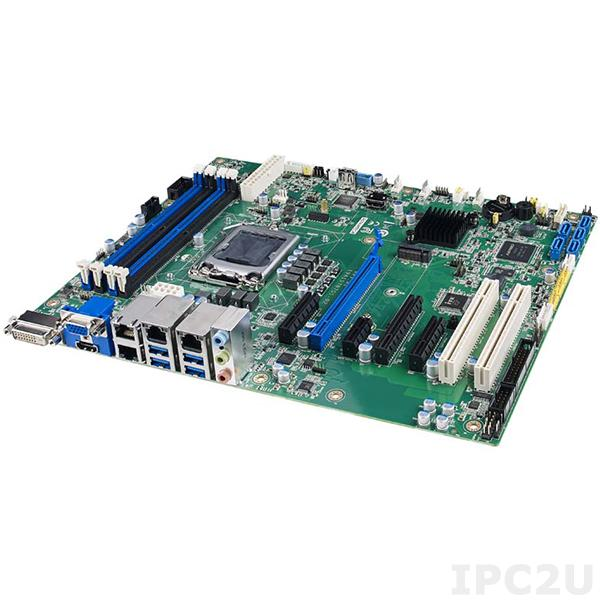 ASMB-787G4-00A1U Серверная процессорная плата ATX, Intel 10th Gen. Core i9/i7/i5/i3, W480E, DDR4, VGA, DVI-D, HDMI, 4xGbE LAN, 2xCOM, 1xUSB 3.2 Gen1, 4xUSB 3.2 Gen2, 3xUSB 2.0, 5xSATA 3, 1xPCIe x16, 2xPCIe x4, 1xPCIe x1, Audio, IPMI