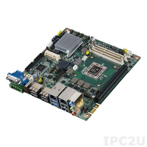 AIMB-226G2-01A1E Процессорная плата Mini-ITX, AMD Dual Core RX-225FB 2.2ГГц, 2xDP/HDMI/LVDS, AMD R-series+A77E, 2x204-pin DDR3-2133МГц SO-DIMM, 6xCOM, 12xUSB, 3xSATA III, 2xGbE LAN, 2xMini PCIe