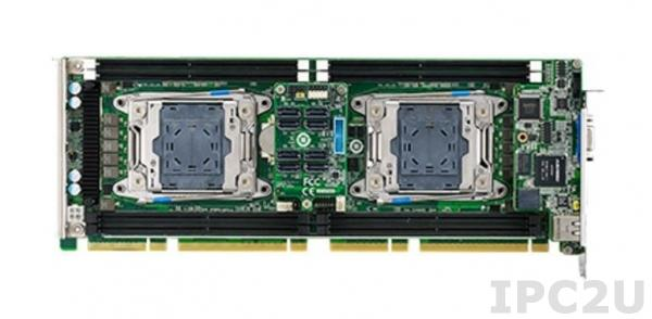 PCE-9228G2I-00A1E Процессорная плата PICMG 1.3, 2xLGA2011 соккета для Intel Xeon E5-2600v3 серии, Intel C612, DDR4/SATA3.0/USB3.0/Dual GbE