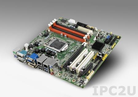 AIMB-581QG2-LVA1E Процессорная плата Micro-ATX, Q67, Intel Core i7/i5/i3, до 32ГБ DDR3 DIMM, VGA, DVI, LVDS, 2xGbE, 6xSATA, 6xCOM, 2xUSB2.0, 12xUSB, слоты расширения 1xPCI Express x16, 1xPCI Express x4, 2xPCI