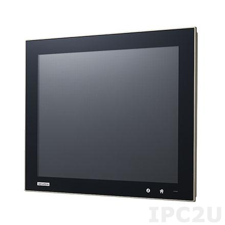 "TPC-5152T-633BE Панельная рабочая станция с 15"" XGA TFT LCD, Intel Core i3-6100U 2.3ГГц, 8Гб RAM, DP, проекционно-емкостный сенс. экран, 3xGB LAN, 2xCOM, 2xUSB 3.0, 2xUSB 2.0, M.2, отсек 2.5"" SATA, PCIe, 2xMiniPCIe (1x iDoor), TPM 2.0, Audio,IP66 по передней панели"