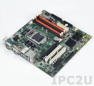 AIMB-580WG2-00A1E Процессорная плата Micro-ATX, чипсет 3450, LGA 1156, Intel Core i7/i5/i3/Pentium/Xeon, до 16ГБ DDR3 DIMM, VGA, DVI, 2xGbE, 6xSATA, 4xCOM, 10xUSB, слоты расширения 1xPCI Express x16, 1xPCI Express x4, 2xPCI