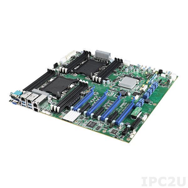 ASMB-975T2-00A1 Серверная процессорная плата ATX, поддержка процессоров 2х Intel Skylake-SP, чипсет Intel C622, до 384Гб DDR4 ECC RDIMM, VGA, 2x10GbE LAN, 2xGbE LAN, IPMI, 12xSATA III, 2xM.2 2242, 7xUSB, 4xPCIe x16, 1xPCIe x8, 4xPCIe x4, Audio, SMBus