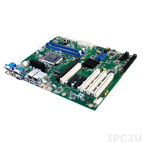 AIMB-707G2-00A1 Процессорная плата ATX с поддержкой Intel 10th gen Core i9/i7/i5/i3/Pentium/Celeron, чипсет Intel H420E, DDR4, DVI/VGA, 2xGbE LAN, 6xCOM, 6xUSB 3.2, 3xUSB 2.0, M.2 M-Key 2280, 4xSATA 3, Audio