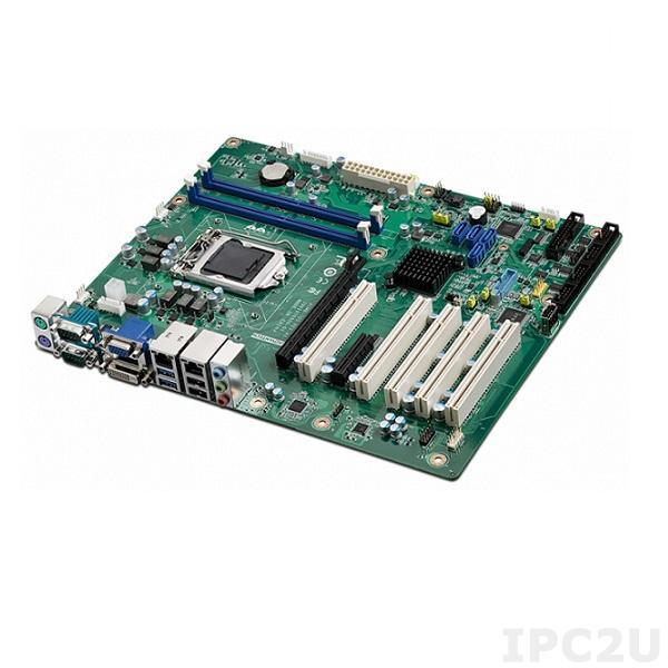 AIMB-705G2-00A1E Процессорная плата ATX, сокет LGA1151 для Intel Core i7/i5/i3/Pentium, чипсет Intel H110, VGA, DDR4, SATA III, 4x USB 3.0, 5x USB 2.0, 2x COM, 1x GbE LAN