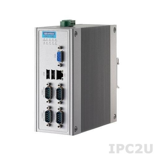 UNO-1140-V10E Встраиваемый компьютер на DIN-рейку c EVA-X4150 150МГц, 64Мб RAM, VGA, 1xLAN, 4xCOM, CF, -20?+75C