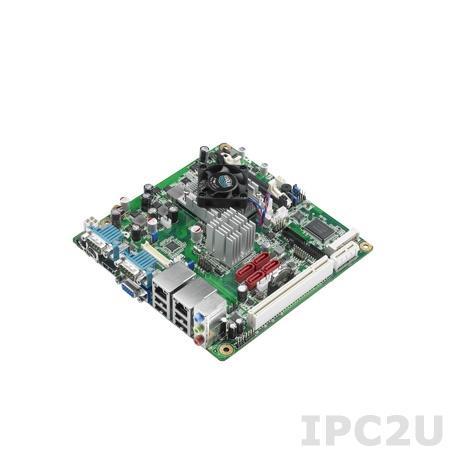AIMB-223G2-S0A1E Процессорная плата Mini-ITX, AMD eOntario DC 1.2ГГц, до 4Гб DDR3 SO-DIMM, VGA, HDMI, 2xGbe LAN, 4xSATA, 6xCOM, 8xUSB, слоты расширения 1xMini-PCIe, 1xPCIe x1, 1xPCI