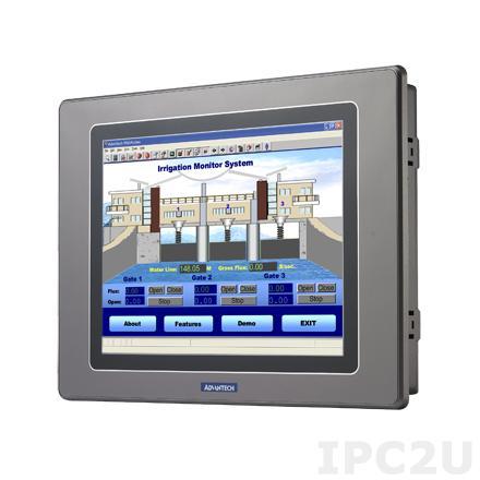 "WOP-2080T-N2AE Панель оператора с TFT дисплеем 8"" 800 x 600, 32-битным процессором RISC 200МГц, 64Мб SDRAM, 8Мб NOR+ 128Мб NAND, 128Кб SRAM, Ethernet, USB, IP66 по передней панели, 24VDC-in"