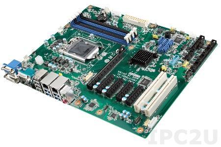AIMB-786G2-00A1 Industrial ATX Motherboard Intel Core i7/i5/i3/Pentium/Celeron 8th Gen, LGA1151, Q370 chipset, 4x288-pin DIMM DDR4 2400/2666 MHz up to 64 Gb Non-ECC, VGA, DVI, DP, 5xSATA III RAID 0/1/5/10, 6xUSB 3.1, 7xUSB 2.0 , 6xCOM, 2xGbE LAN, PS/2