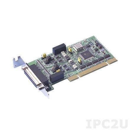 PCI-1602UP-CE Universal PCI адаптер 2xRS-232/422/485 разъем DB25 Female, c защитой от перенапряжения и изоляцией, кабель DB25 в 2xDB9 Male