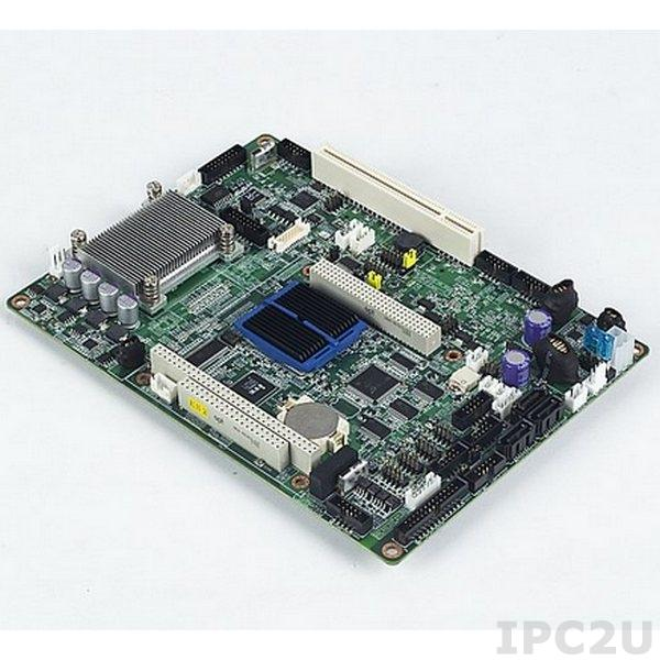 PCM-9562NZ-1GS6A1E Процессорная плата EBX с Intel Atom N450 1.66ГГц, 1Гб DDR2, LVDS/VGA, 2xGB LAN, 8xUSB, 5xCOM, 3xSATA, GPIO, PC/104-Plus, PCI, miniPCIe, HD Audio, -20...+80C